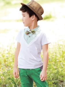 salman森门童装假两件套T恤