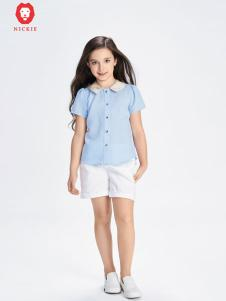 NICKIE蓝色时尚衬衫