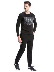 圣得西男装春夏新品黑色T恤