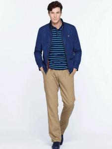 圣大保罗男装新品蓝色夹克