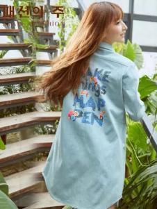 尚州2017春夏新品字母印花衬衫