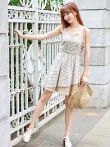 尚州2017春夏新品收腰连衣裙