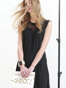 斯浓女装黑色连衣裙
