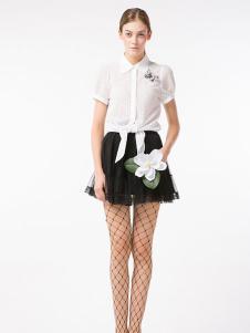 淑女屋2017春夏新品白衬衫