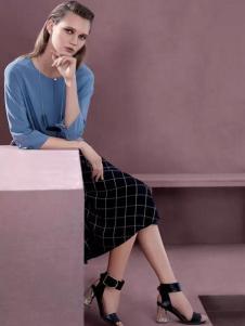 SHOWLONG舒朗2017春夏新品格纹裙