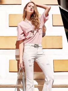 淑女心情女装粉色衬衫
