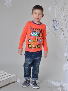 蓝角兽男童衬衫印花T恤