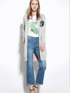 SOMSOM索玛2017春夏新品灰色长衫