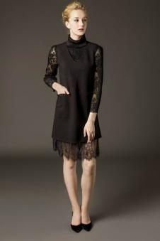鑫美新品黑色蕾丝裙