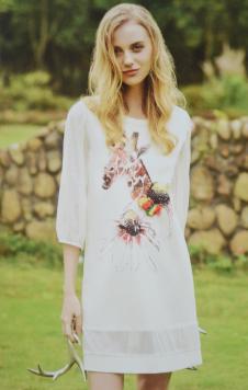 金蝶茜妮女装印花长T恤