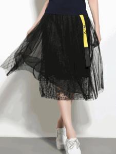 SOMSOM索玛2017春夏新品黑色纱裙