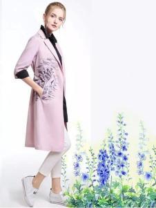 特儿迪雅2017春夏新品西装领风衣