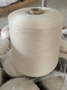 60nm/2本白絹絲紗線