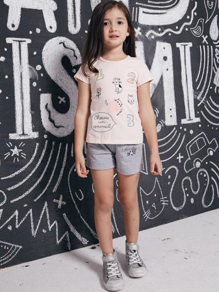 威斯米2017春夏新品女童T恤