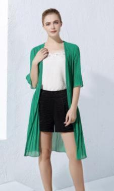 2017黛琦新品绿色外罩衫