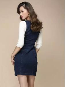 唯美印象女装新品牛仔包臀裙
