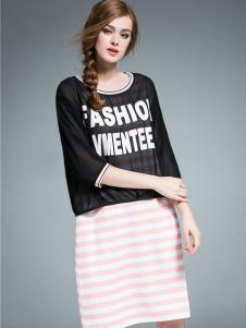 Vmenteel维曼缇女装两件套条纹裙