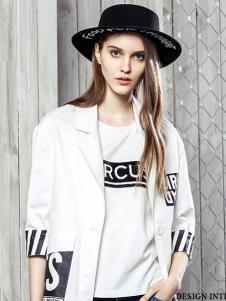 西子印象2017春夏新品白色休闲外套