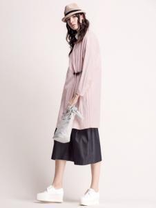 MYSCISSORS希色2017春夏新品粉色连衣裙
