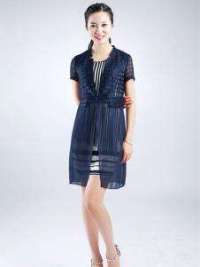 武汉惠品蓝色连衣裙
