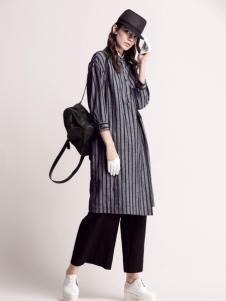 MYSCISSORS希色2017春夏新品条纹外套