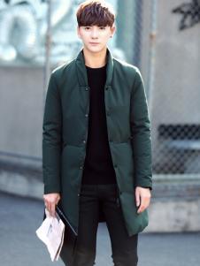 阔佬▪史迪文绿色中长款外套