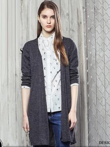西子印象2017春夏新品灰色针织外衫