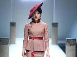 中国国际时装周:香黛宫·龚航宇上演秋冬旗袍秀
