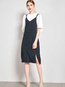 ZIMMUR17春夏新款吊带裙两件套