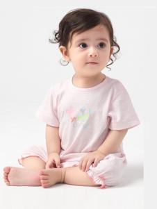 minimoto小米米2017春夏新品粉色婴儿装