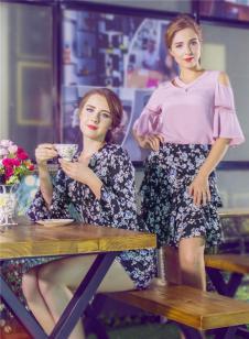 图案女装2017年春夏新品花裙