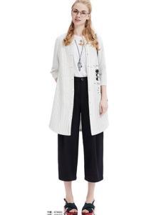 X-Y遐逸2017春夏新品条纹外套