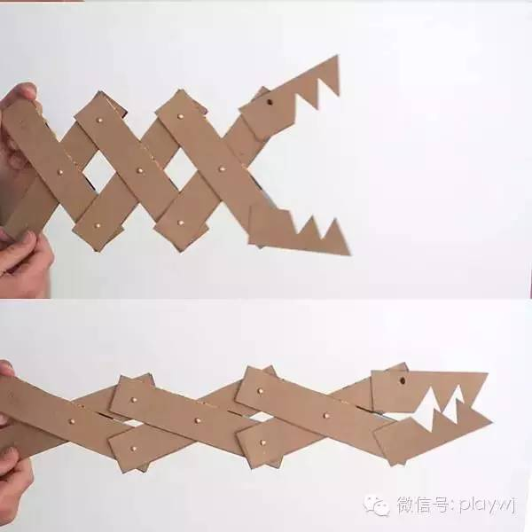 纸盒 动物 鳄鱼 手工