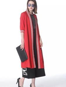 SISUIN溆牌女装红色长衫