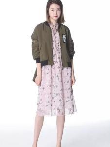 SISUIN溆牌女装印花连衣裙