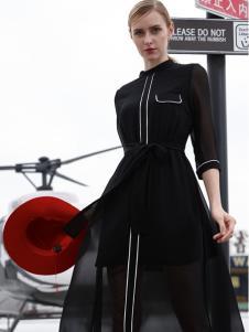 雷索思新款收腰连衣裙