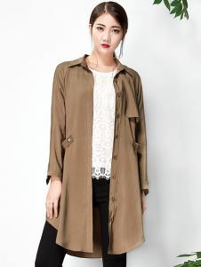 水墨生香春季新款纯色长衬衫