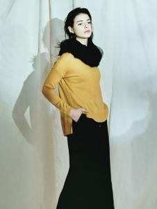 序言女装姜黄色上衣