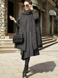 娅尼蒂凘女装灰色斗篷式上衣