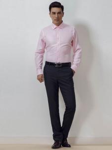雅戈尔男装粉色衬衫