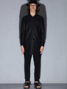 线锁日系时尚男装新款黑色衬衫