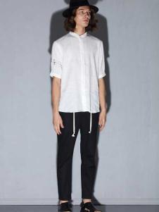 线锁日系时尚男装新款时尚衬衫