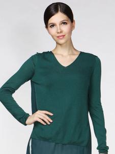 姚领女装绿色上衣
