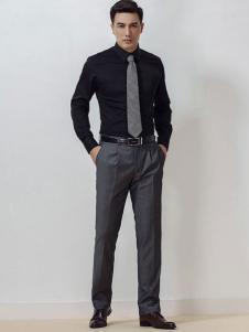 雅戈尔男装黑色衬衫