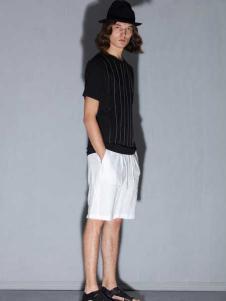 线锁日系时尚男装新款T恤