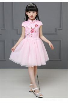阅爱童装定制新品粉色纱裙