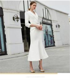 阅爱女装定制新品白色套装