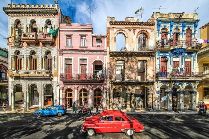 欧式建筑粉刷效果图