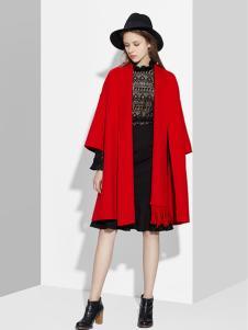 伊豆莫兰女装红色廓形外套