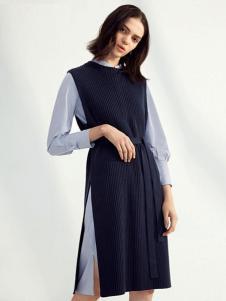 伊芙丽2017春夏新品两件套连衣裙